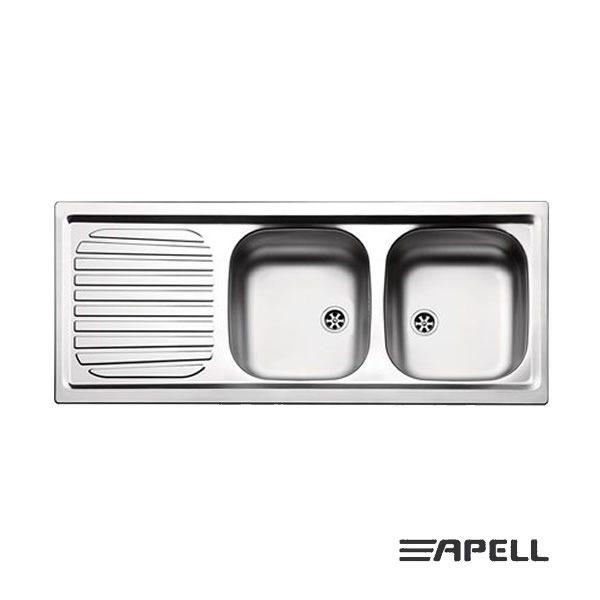 Apell Lavello 2 Vasche Incasso 116X50 FI1162ILBC