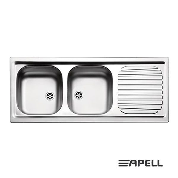 Apell Lavello 2 Vasche Incasso 116X50 FI1162IRBC