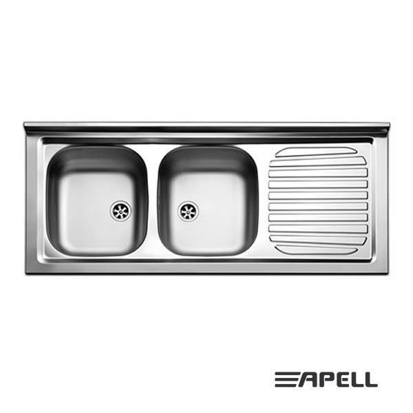 Lavello Apell Acciaio Inox 120 cm PI1202MRP Serie Pisa