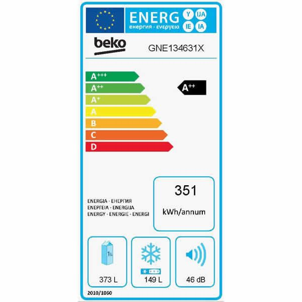 Scheda Energetica Frigorifero Beko GNE134631X EU