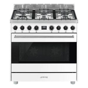 Cucina Gas Forno Multifunzione Smeg B9gmbi9 90 Cm Bianco Uniprice