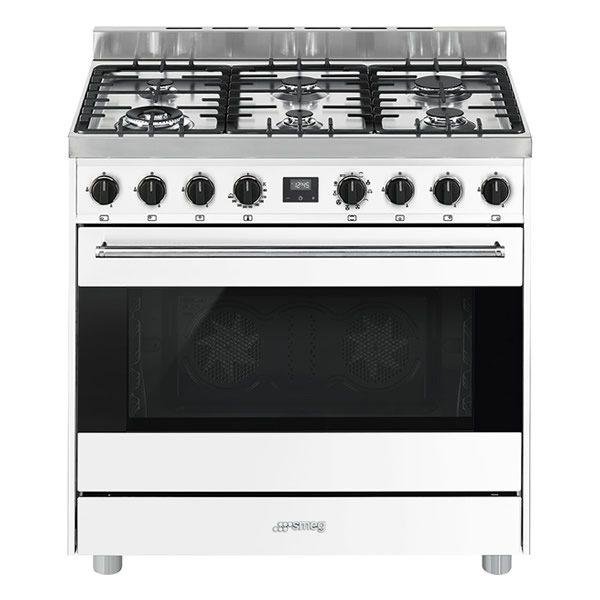 Cucina Gas Forno Multifunzione Smeg B9GMBI9 90cm Bianco
