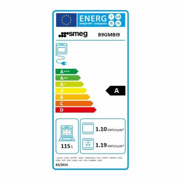 Cucina Gas Forno Multifunzione Smeg B9GMBI9 90cm Bianco Etichetta Energetica