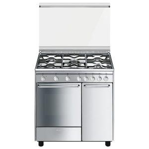 Cucina Gas Forno Ventilato Smeg CX9SV2 90 cm Inox