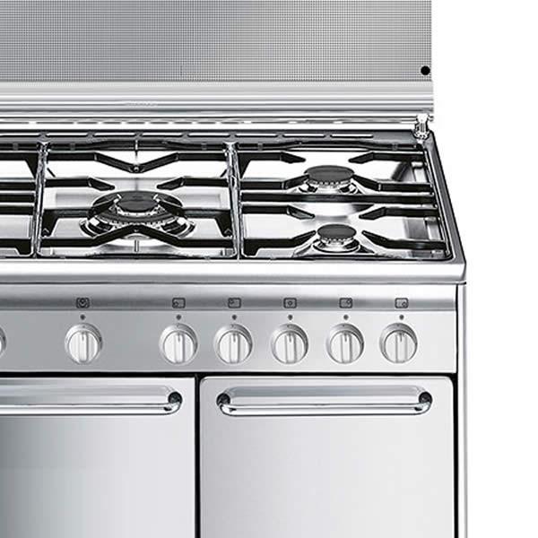Cucina Gas Forno Ventilato Smeg CX9SV2 90 cm Inox - UniPrice