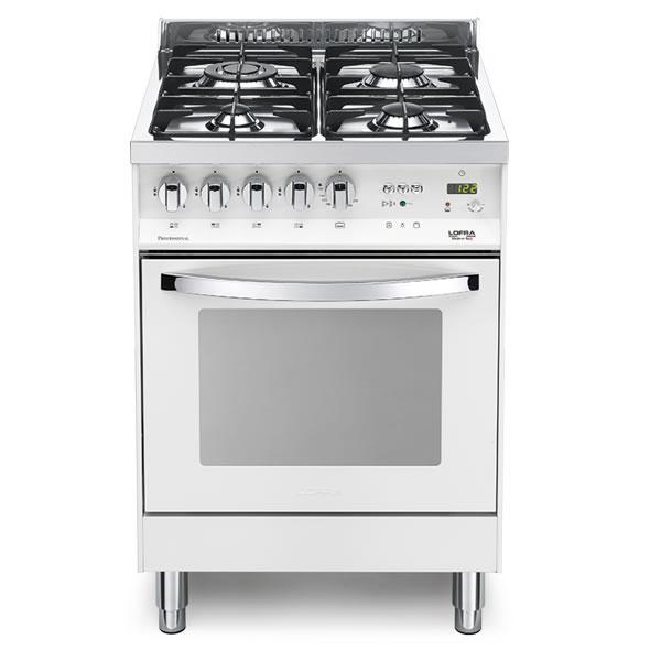 Cucina Lofra Bianco Perla PBP66MFT/C Forno Multifunzione Piano 4 Fuochi