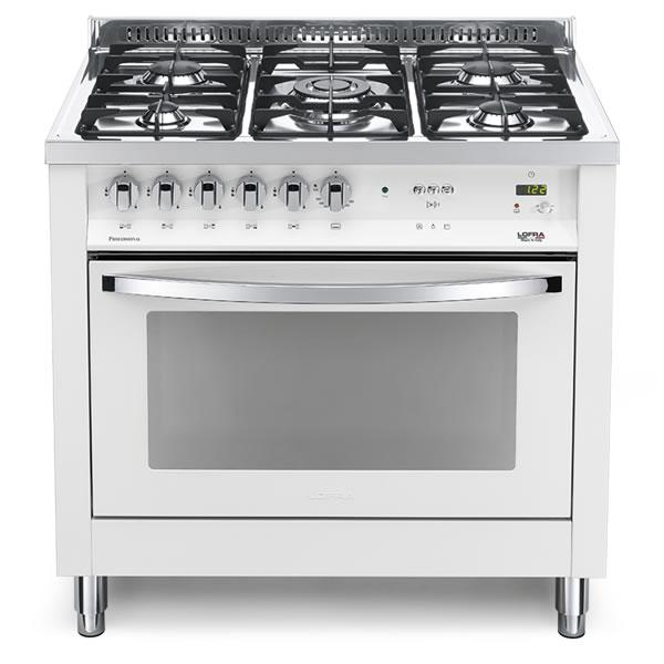 Cucina Gas Lofra Bianco Perla PBPG96GVT/C Forno Gas Ventilato