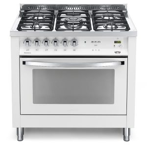 Cucina Lofra Bianco Perla PBPG96MFT/C Forno Multifunzione Piano 5 Fuochi