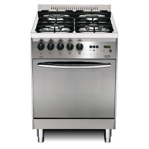 Cucina Lofra Curva Inox 60 C66GV/C Forno Gas Piano 4 Fuochi