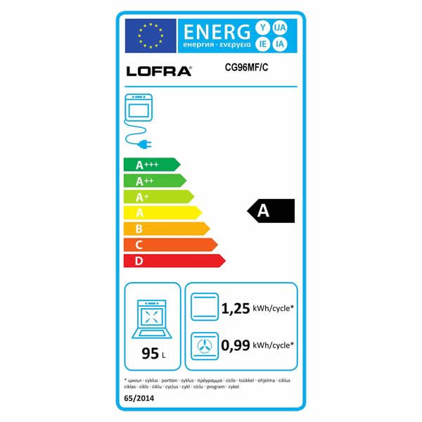 Cucina Lofra Curva Inox 90 CG96MF/C Forno Multifunzione Etichetta Energetica