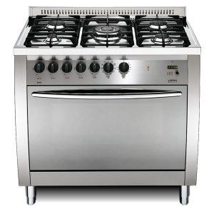Cucina Lofra Curva Inox 90 CG96MF/C Forno Multifunzione Piano 5 Fuochi