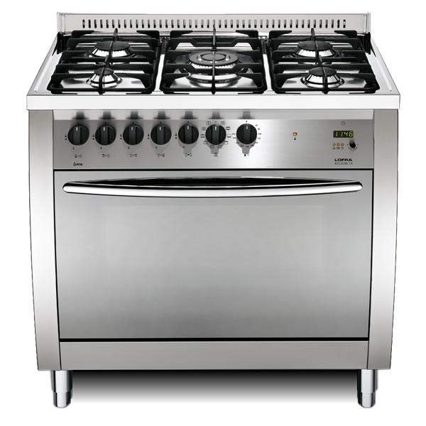 Cucina gas lofra curva 90 inox cg96mf c forno - Aerazione gas cucina ...