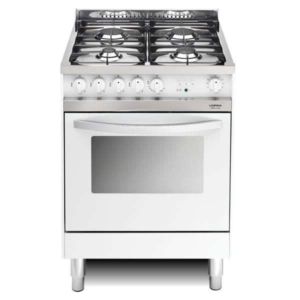 Cucina Gas Lofra Maxima 60 Bianca MB66MF Forno Multifunzione - UP