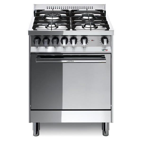 Cucina Lofra Maxima 60 Inox M66MF/C Forno Multifunzione Piano 4 Fuochi