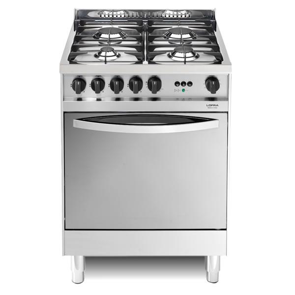 Cucina Gas Lofra Maxima 60 Inox X66GV Forno Gas Ventilato