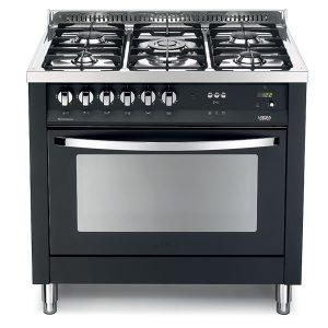 Cucina Lofra Nero Matt PNMG96GVT/C Forno Gas Piano 5 Fuochi