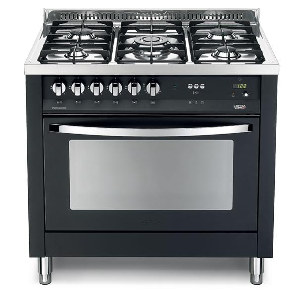 Cucina Lofra Nero Matt PNM96MFT/C Forno Multifunzione Piano 5 Fuochi