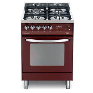 Cucina Lofra Rosso Burgundy PR66MFT/C Forno Multifunzione Piano 4 Fuochi