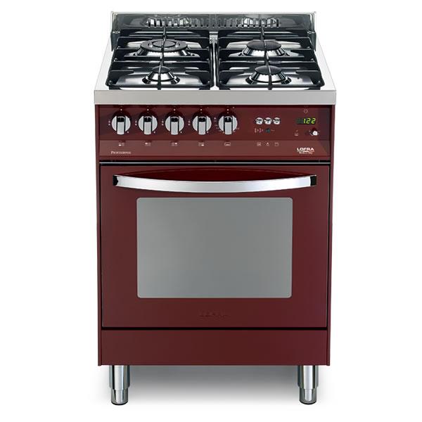 Cucina Lofra Rosso Burgundy PR66GVT/C Forno Gas Piano 4 Fuochi