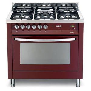 Cucina Lofra Rosso Burgundy PRG96MFT/C Forno Multifunzione Piano 5 Fuochi
