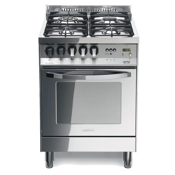Cucina Lofra Total Inox PL66GVT/C Forno Gas Piano 4 Fuochi
