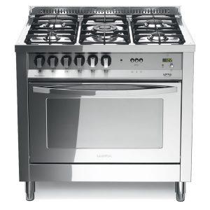 Cucina Lofra Total Inox PLG96MFT/C Forno Multifunzione Piano 5 Fuochi