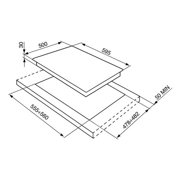 Piano Cottura Gas Smeg SR264XGH2 Inox 60 cm - UniPrice