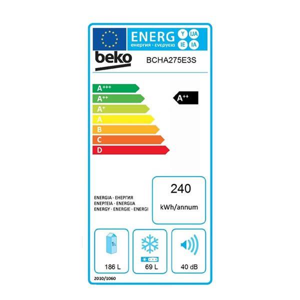 Frigorifero Beko Combinato Incasso BCSA285K2S Etichetta Energetica