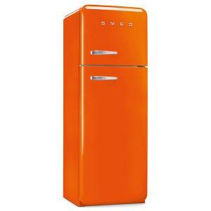 Frigorifero Doppia Porta Anni 50 Smeg FAB30RO1 Arancione