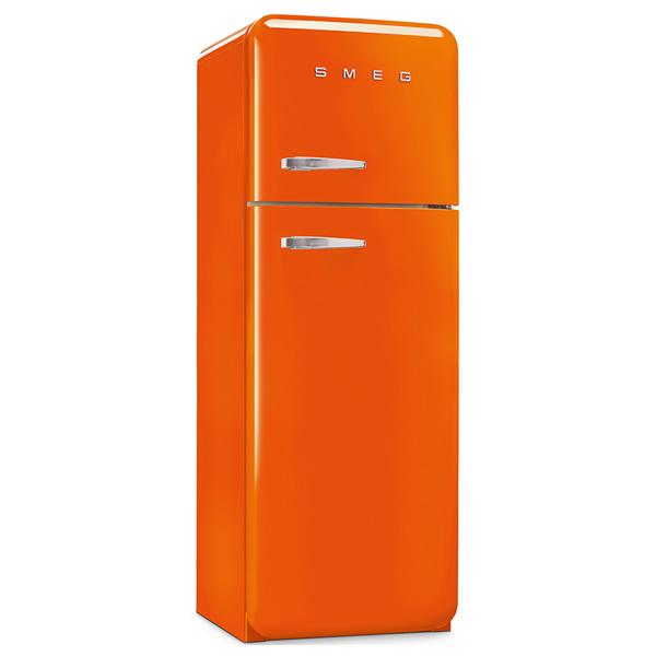 Frigorifero doppia porta anni 50 smeg fab30 arancione - Frigorifero combinato o doppia porta ...