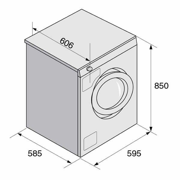 Lavatrice 8 Kg Asko W6884W Eco Disegno Tecnico