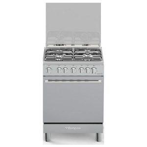 Bompani Cucina Elettrica BO643MA-N 4 Fuochi a Gas Forno Elettrico Ventilato 60 cm Inox