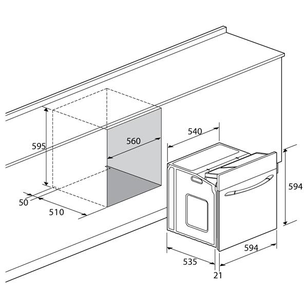 Forno Lofra Incasso Elettrico 60 cm Dimensioni Incasso