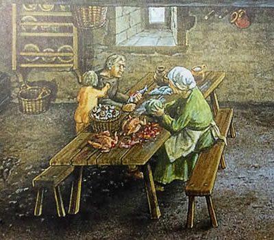 Storia del Lavello Cucina Contadini Medioevo