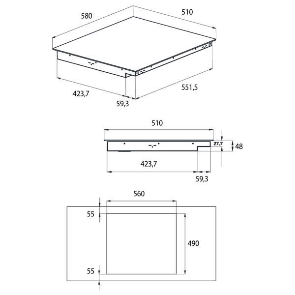 Piano Cottura Induzione Beko HII64430GT Pro Plug & Play - UniPrice