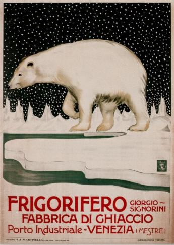 Storia del Frigorifero - Dalla Ghiacciaia al Frigo Smart Pubblicità Orso Polare