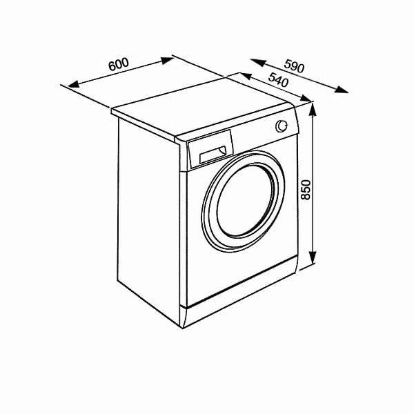Asciugatrice Beko DRX722W 7kg Pompa di Calore Schema Dimensioni