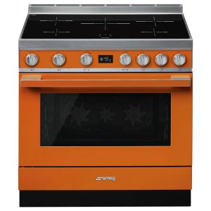 Cucina Elettrica Piano Induzione Smeg CPF9IPOR 90 cm Arancione