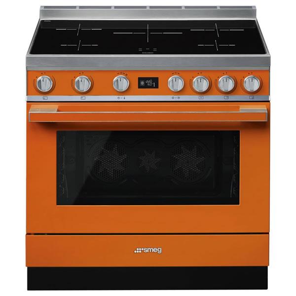 Cucina Elettrica Induzione Smeg CPF9IPOR 90 cm Arancione - UniPrice