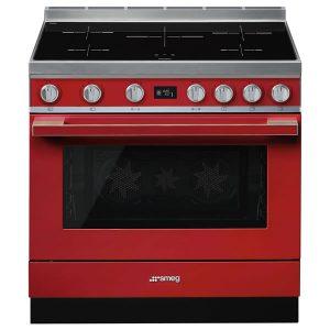 Cucina Elettrica Piano Induzione Smeg CPF9IPR 90 cm Rosso