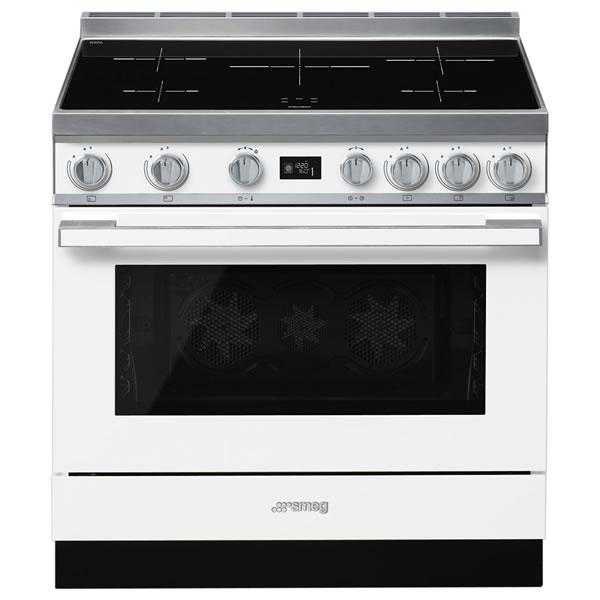 Cucina Elettrica Induzione Smeg CPF9IPWH 90 cm Bianco