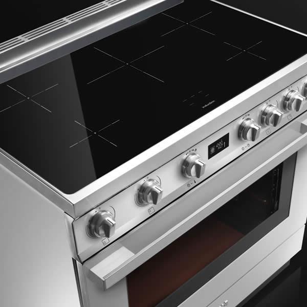 Cucina Elettrica Induzione Smeg CPF9IPR 90 cm Rosso - UniPrice