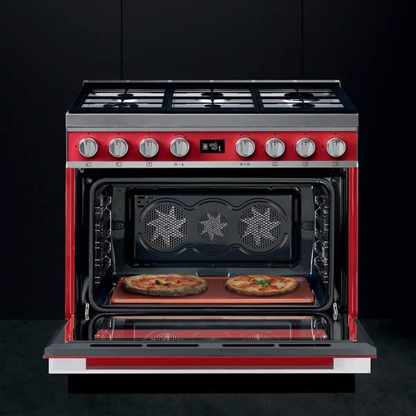 Cucina Gas Smeg Portofino Cottura su Pietra