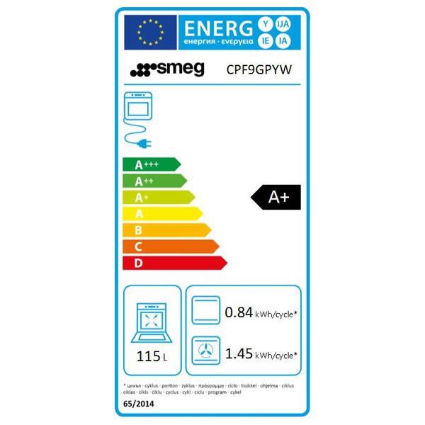 Cucina Smeg CPF9GPYW 90cm Giallo Forno Elettrico Etichetta Energetica