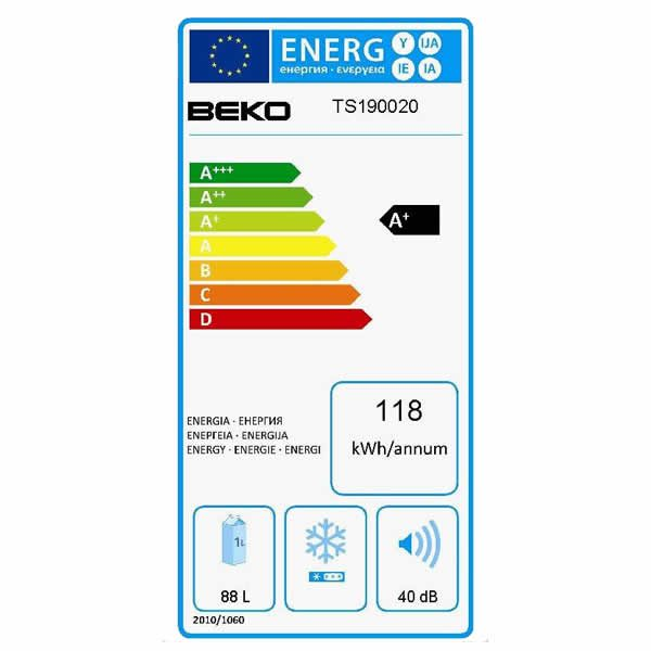 Frigorifero Beko Statico TS190020 Monoporta Etichetta Energetica