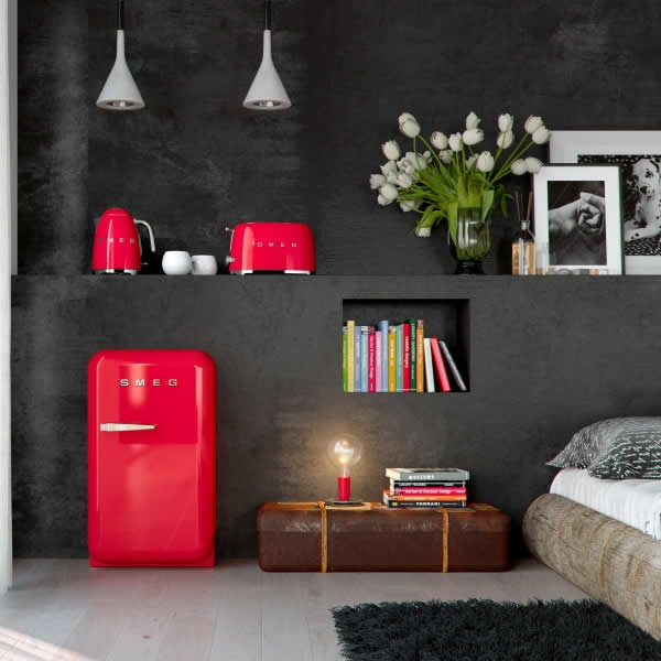 Frigorifero Smeg FAB5 Rosso Minibar - UniPrice Elettrodomestici