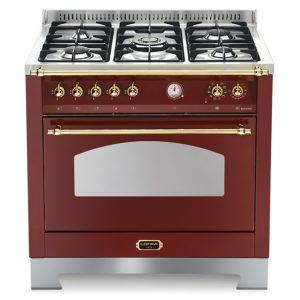 Cucina Gas Lofra RRG96MFT-Ci Forno Elettrico Multifunzione Rosso Burgundy