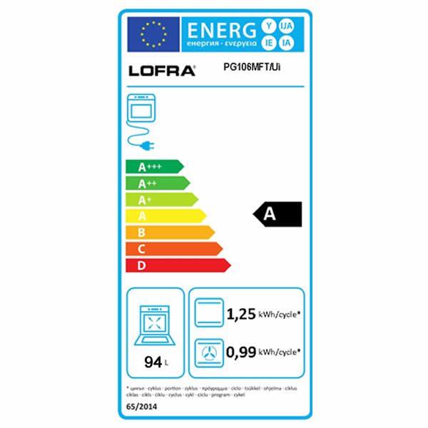 Cucina Lofra Special 100 PG106MFT-UI Total Inox Etichetta Energetica