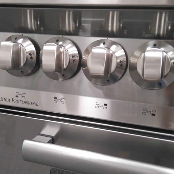 Cucina Lofra Special 100 PG106MFT-UI Total Inox Manopole
