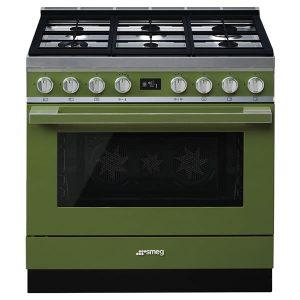 Cucina Smeg CPF9GMOG 90cm Verde Oliva Forno Termoventilato